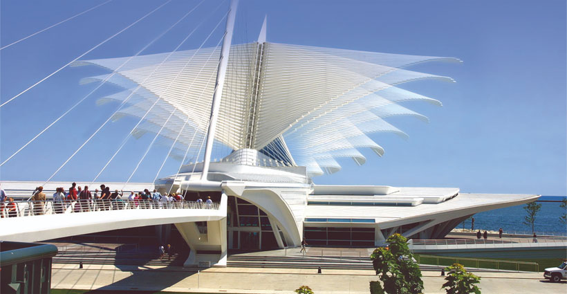 Exterior photo of the Milwaukee Art Museum