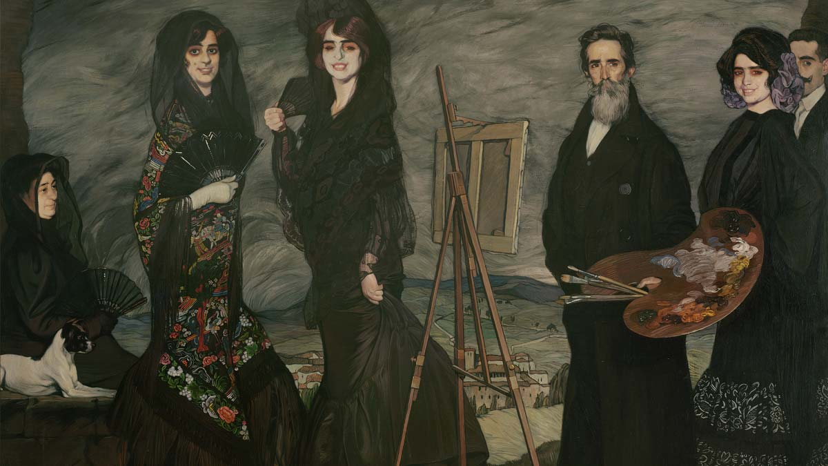 A painting of a family by Spanish artist Zuloaga