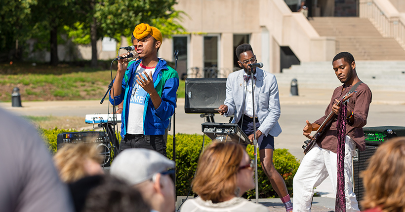 Musical Performance Outdoors at MAM