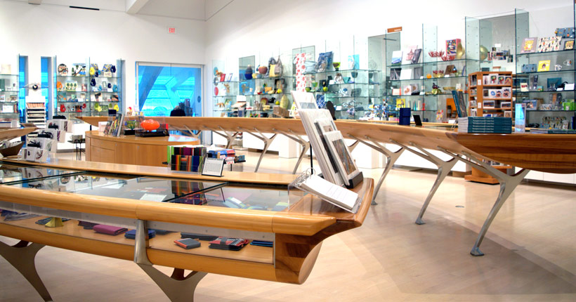 Interior of the Museum store