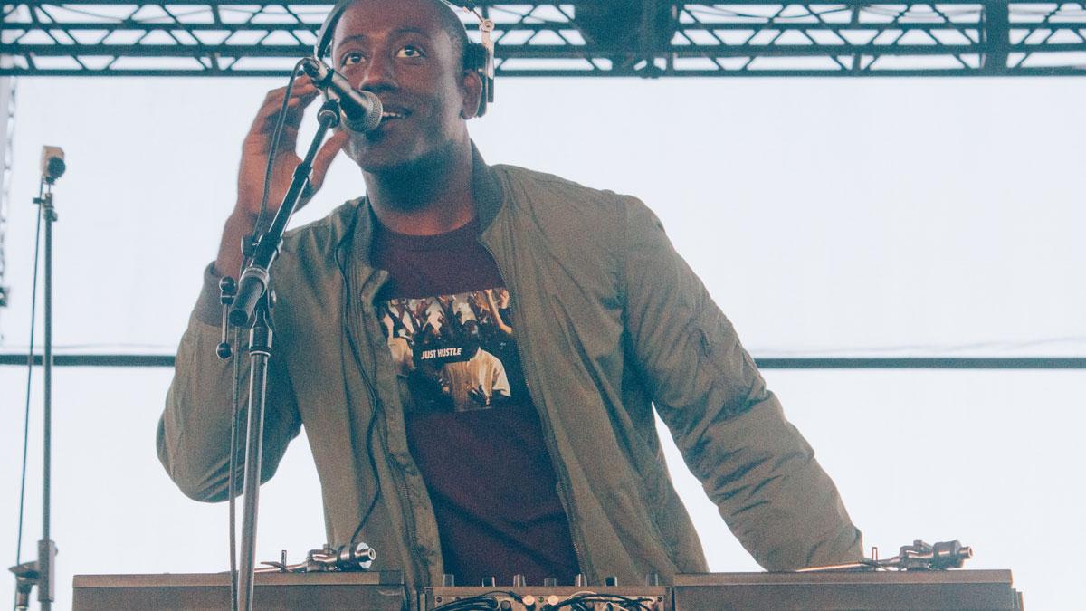 Close-up image of DJ Bizzon performing