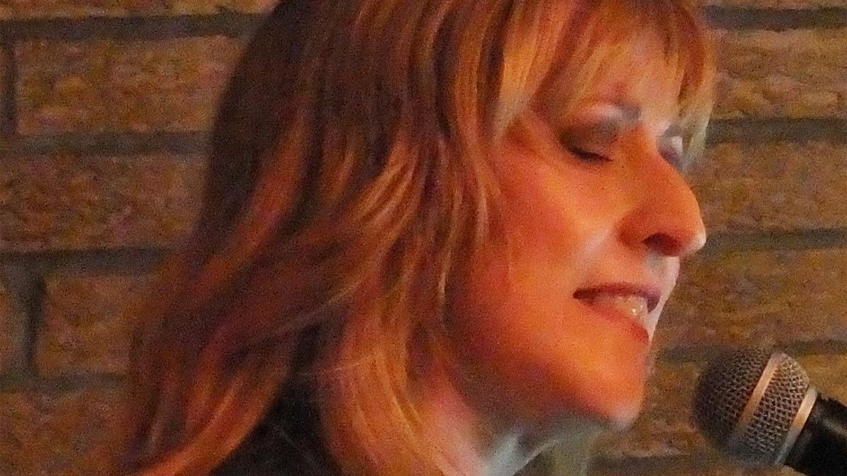 Close-up profile shot of musician Julie Brandenburg