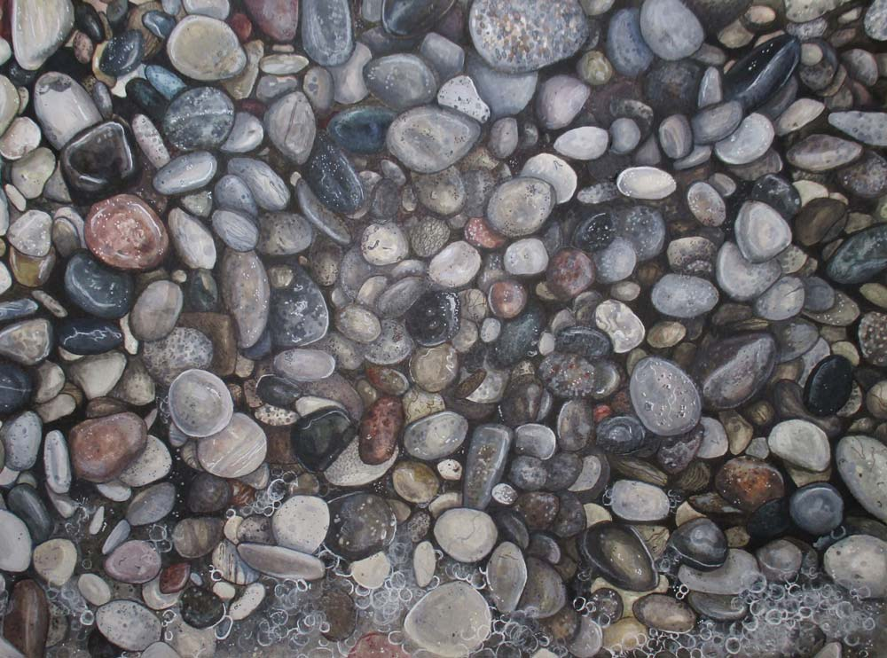 Large assortment of pebbles
