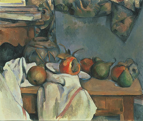 Paul Cézanne, Ginger Pot with Pomegranate and Pears