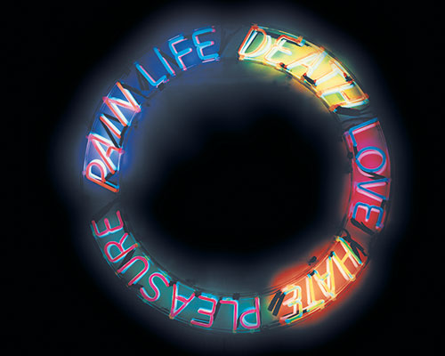 Image from Elusive Signs: Bruce Nauman Works with Light