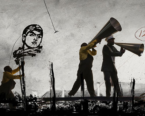 Image from William Kentridge: More Sweetly Play the Dance