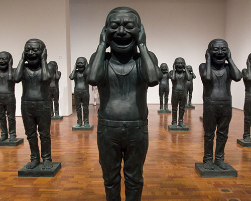 Image from Yue Minjun: Chinese Contemporary Warriors