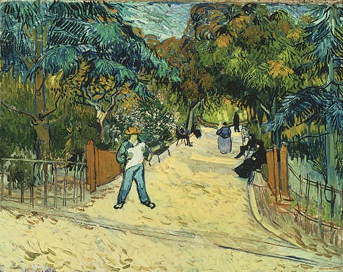 Vincent van Gogh, Entrance to the Public Gardens in Arles