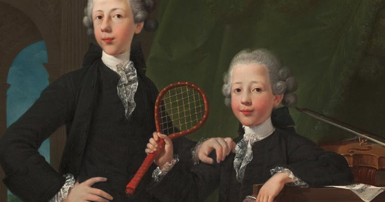 Artwork: Attributed to Georg Anton Abraham Urlaub, Portrait of Two Young Men in Powdered Wigs