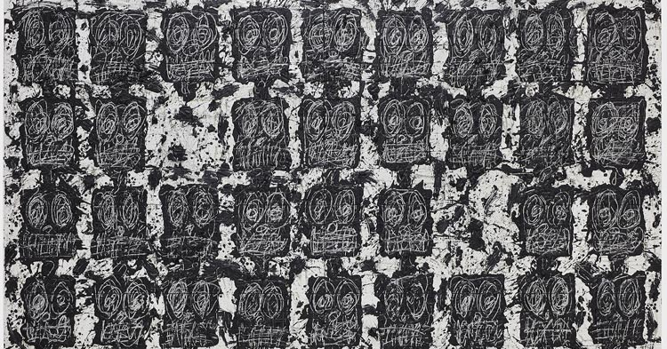 Artwork: Rashid Johnson, Untitled Anxious Audience
