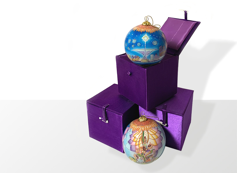 Art-based holiday ornaments from the Museum store